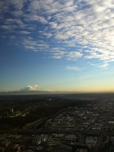 Mount Rainier in the sunset