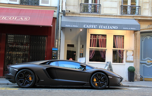 As a Batmobile ... : Lamborghini Aventador LP 700-4.
