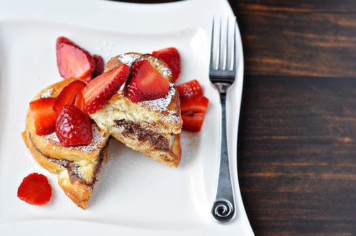 Nutella Stuffed French Toast with Strawberries