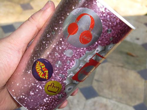 2012 violet 600 ml cups Summer-Music Coca-Cola promo Rio de Janeiro - det 2 by roitberg