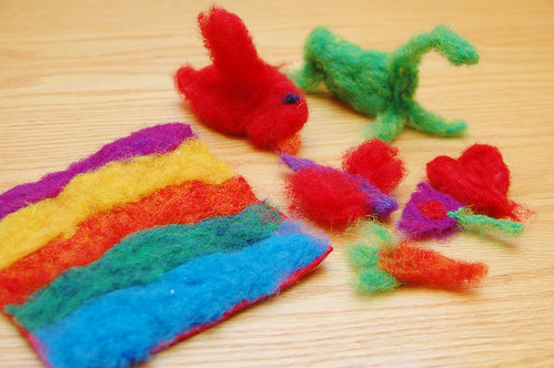 just a few of odin's felting projects.