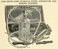 Stomach pump, aspirator, and enema syringe.