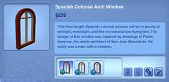 Spanish Colonial Arch Window