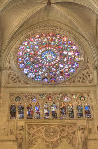 Toledo Cathedral rose window (HDR)