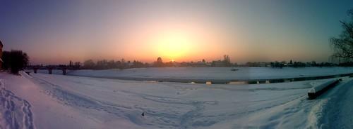 sunset snow bank kupa 2012 sisak