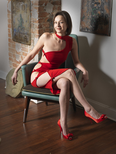 Justyna in Red Dress 764
