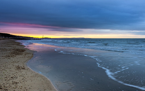 seascape beach sunrise landscape dorset bournemouth