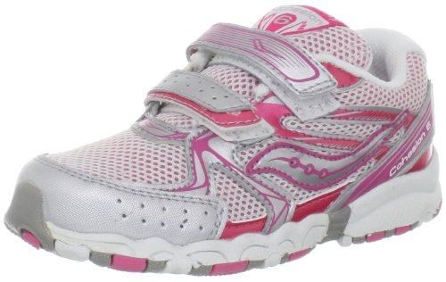 20% Discount Saucony Girls Baby Cohesion H&L Running Shoe (Toddler),Pink/Silver,9 M
