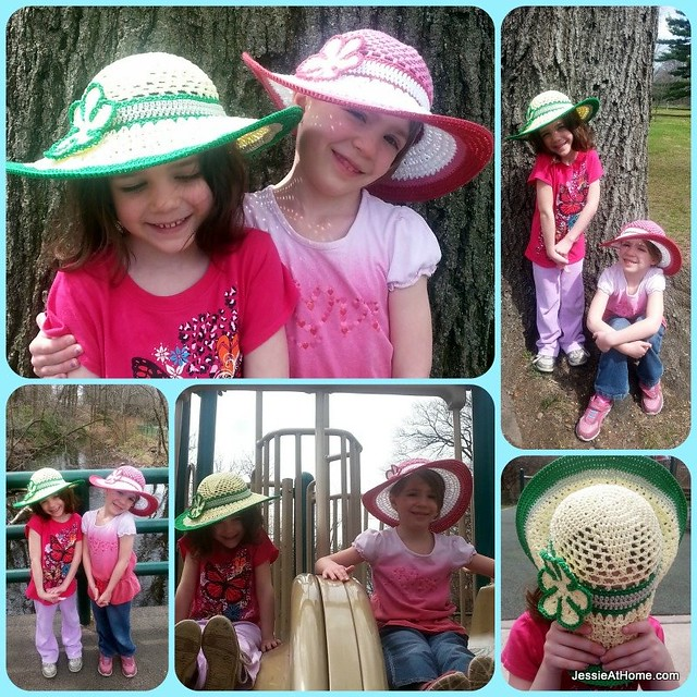 Be-A-Start-Child's-Sun-Hat-Free-Crochet-Pattern-Twins