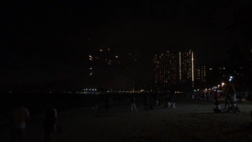 Hilton's fireworks
