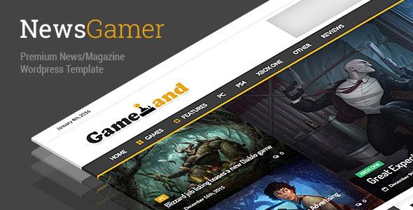 NewsGamer v1.6 - WordPress News / Magazine Theme