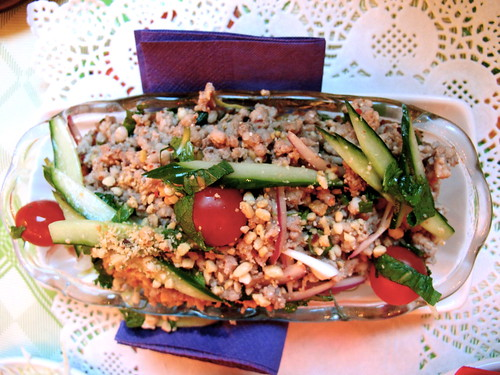 Pork peanut salad