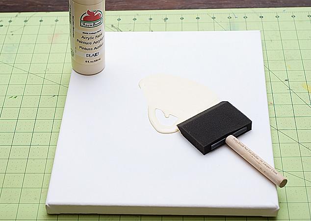 doily canvas step 1