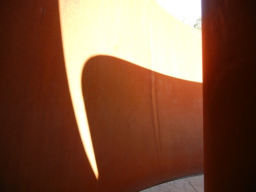 Steel Sculpture by Richard Serra, Cantor Arts Center, Stanford University _ 8361