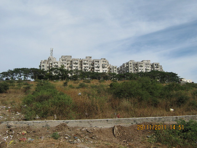View of DSK Vishwa from the site of Urbangram Kirkatwadi, A 2 BHK Flat for Rs. 25 Lakhs on Sinhagad Road, Pune 411 024