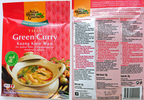 Thai Green Curry van Asian Home Gourmet
