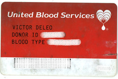 Victor Blood Donor Card