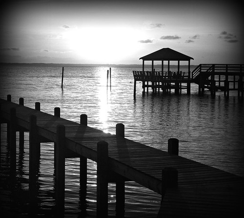 Outer Banks Pier and Gazebo at Sunset