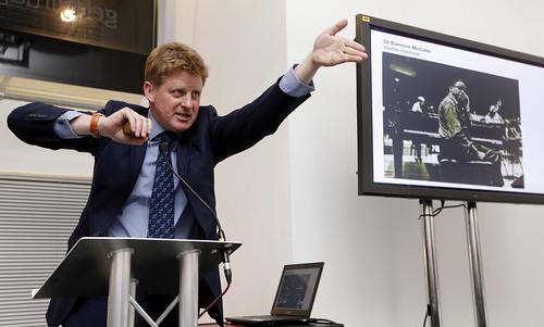 Sotheby's auctioneer Adrian Biddell