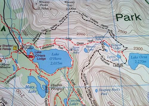 Lake O'Hara hiking map