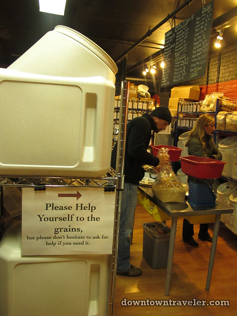 Brooklyn Homebrew self serve grains counter