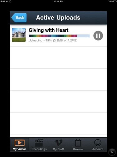 Uploading video to Vimeo from the iPhone app