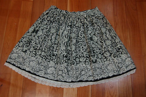 Lolita Closet Count! Skirts: Black - In the Starlight Lace Print