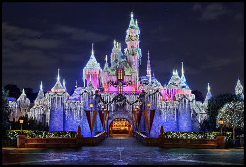 Sleeping Beauty Castle - Disneyland Christmas 2011