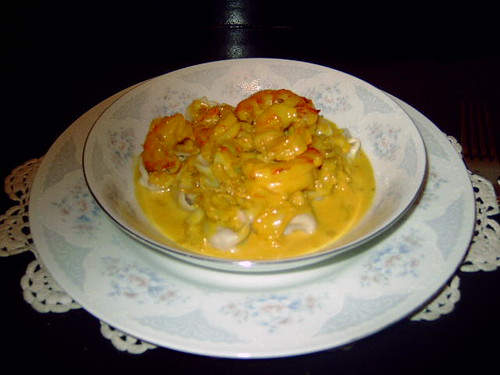 Tortellini di granchio con gamberi allo zafferano - Maria Murray