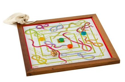 Snakes and Ladders: A classic game that is fin to play whether you are 3 or 80. Its one of the true, classic family games.