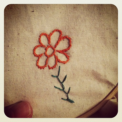 My 1st embroidered flower