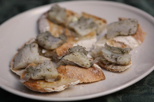 Pickled Herring on Buttered Toast