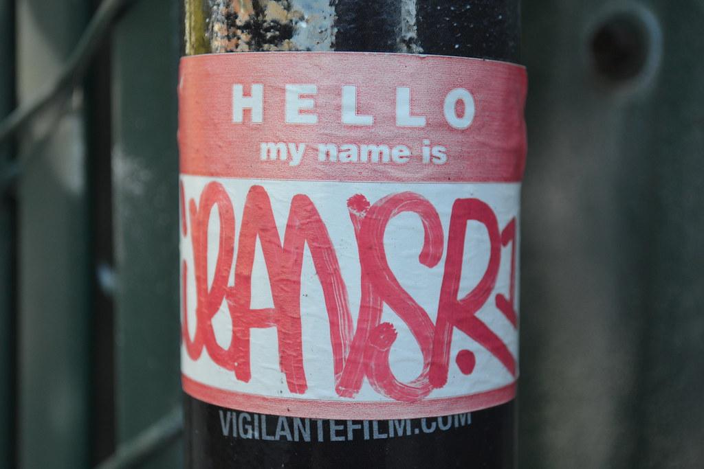 JEANS, JEANSR, sticker, Street Art, Oakland,