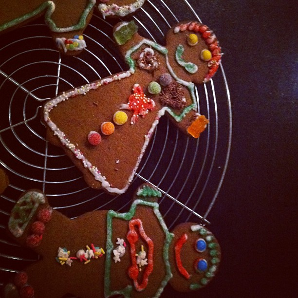 Today. Gingerbread people.