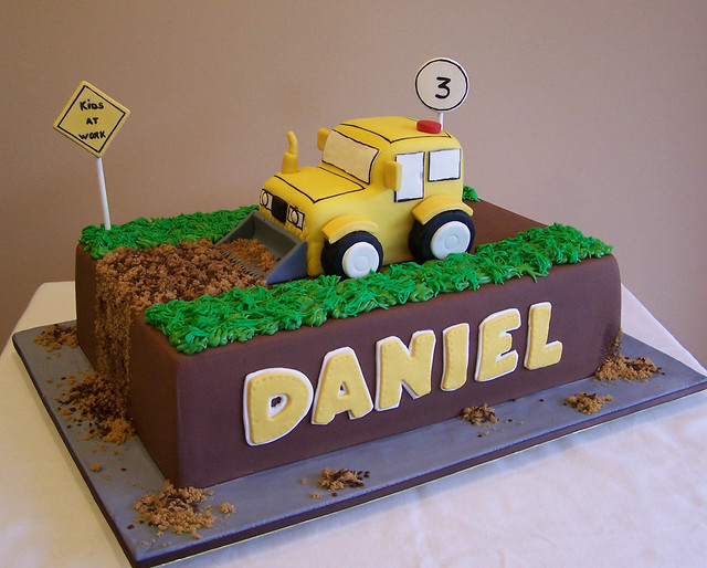 Birthday Cake Design Sites : Construction Truck Cake My client sent me a sketch he ...