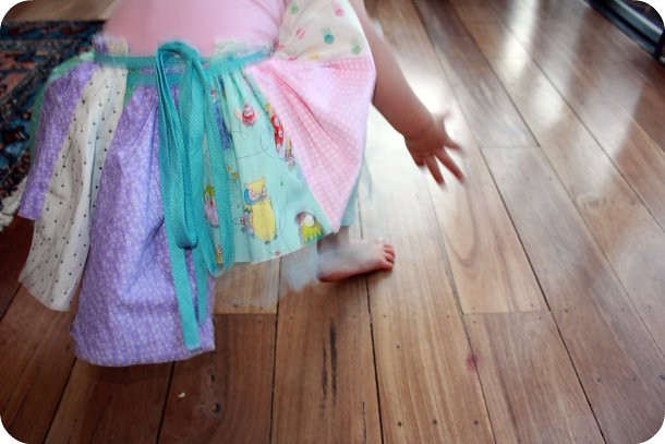 patchwork skirt (in motion)