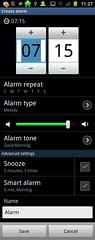 Samsung Galaxy S2 Alarm clock