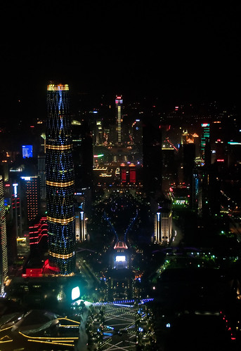 View of Zhujiang New Town from Canton Tower