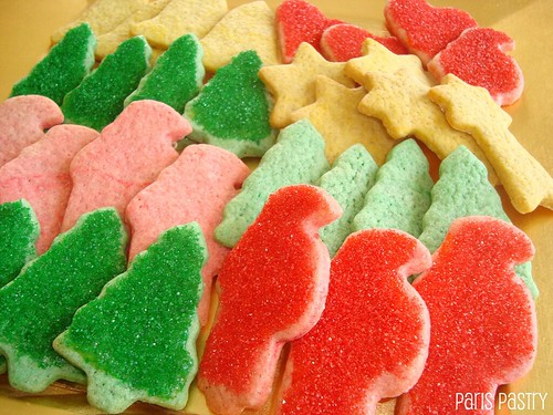 Colored Christmas Spice Cookies