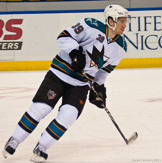 Logan Couture scored three power play goals against the Vancouver Canucks last series. (sarah_connors/Creative Commons)