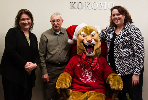 Radiologic Science Faculty with Kingston at Holiday Party