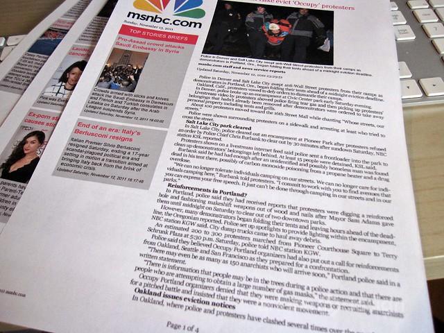 HP Photosmart 6510 MSNBC news digest
