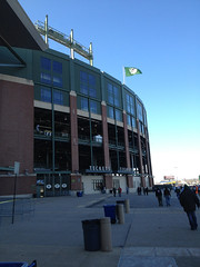 Lambeau Field w/ flying flag