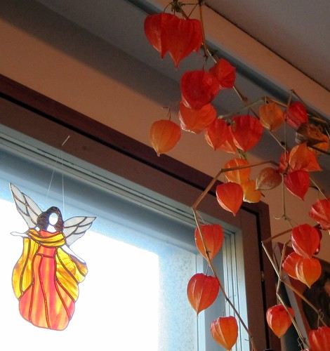 An Angel and Chinese Lanterns by Anna Amnell