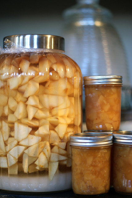 Pear Rum Pot and Pear Ginger Preserves