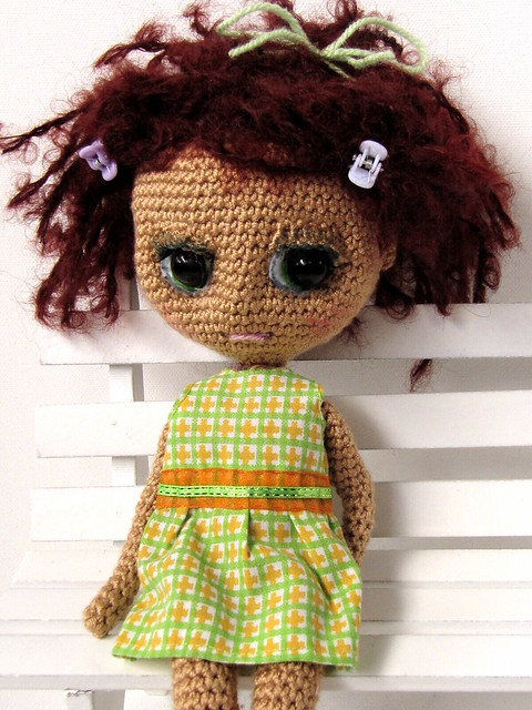 Amigurumi Face Stitch : Little crocheted doll Flickr - Photo Sharing!