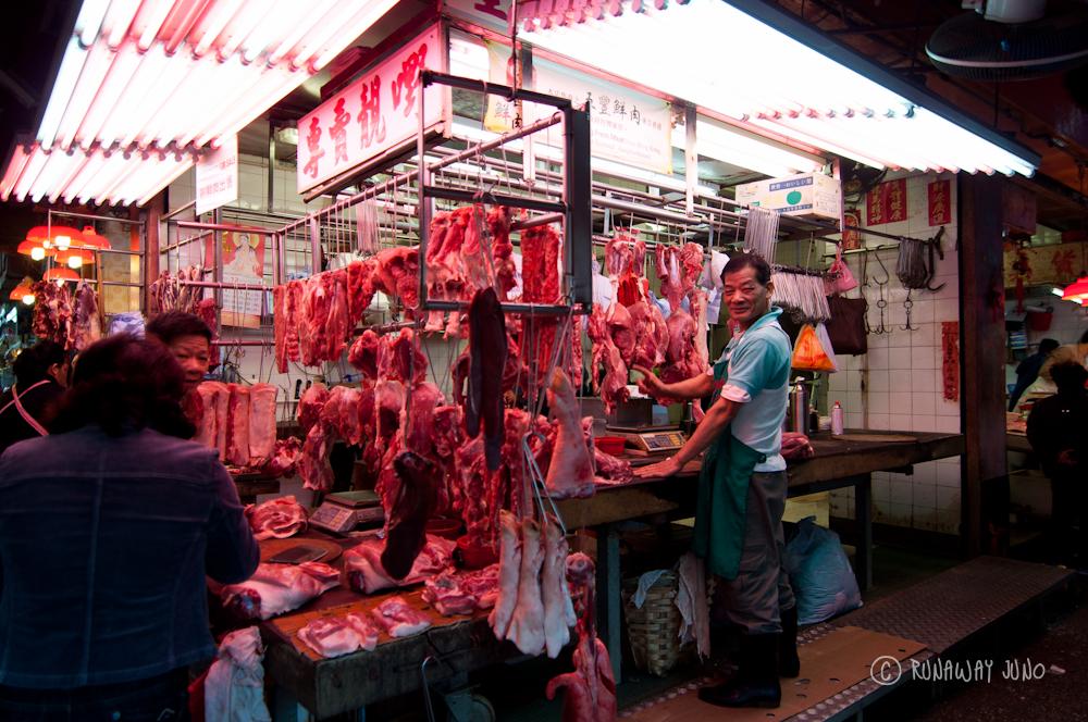 Meat at Shau Kei Wan Market