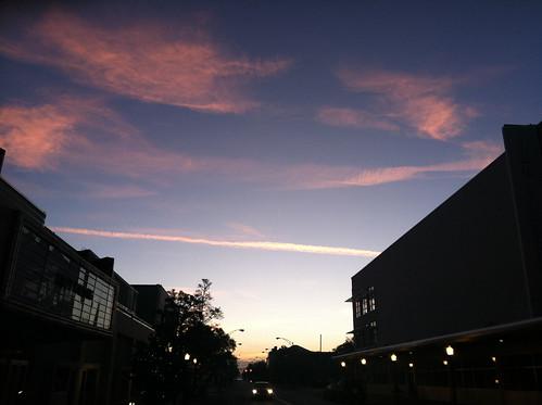 clouds sunrise contrail savannah photostream cirrus broughtonst