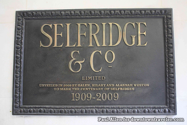 London England Selfridge Store Sign