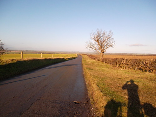 Looking back towards Rudston